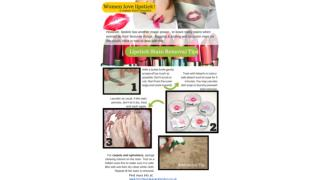 Lipstick stain removal - Tips and Tricks