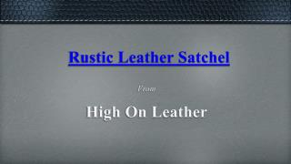 Vintage Leather Briefcase - High On Leather