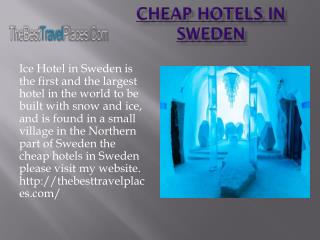 Cheap Hotels in Sweden