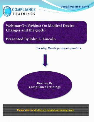 Webinar Medical Device Changes and the 510(k)