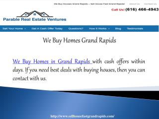 We Buy Homes Grand Rapids
