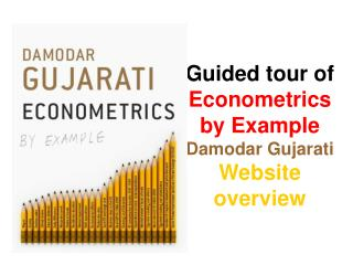 Guided tour of Econometrics by Example Damodar Gujarati Website overview