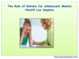 The Role of Rehabs for Adolescent Mental Health Los Angeles