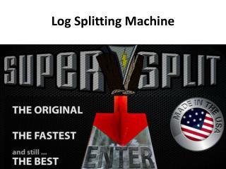 Hydraulic Log Splitters
