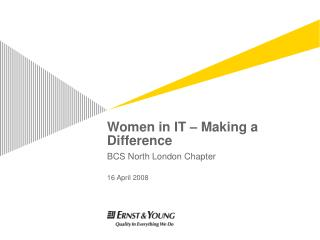 Women in IT   Making a Difference