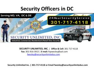 Personal Protection Companies Dc