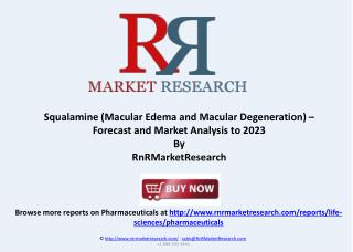 Squalamine Macular Degeneration Market Analysis to 2023