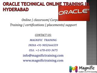 oracle technical online training in india