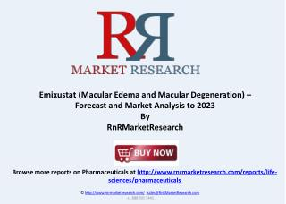 Emixustat Macular Edema Market Analysis and Forecast to 2023