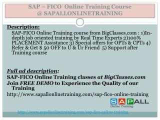 FICO Online Training Guide