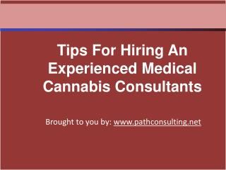 Tips For Hiring An Experienced Medical Cannabis Consultants