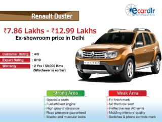 Renault Duster Prices, Mileage, Reviews and Images at Ecardl