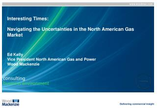 Interesting Times:   Navigating the Uncertainties in the North American Gas Market    Ed Kelly Vice President North Amer