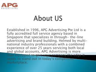 Creative Advertising Agency in Singapore