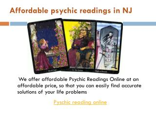 Psychic Readings Online in  NJ