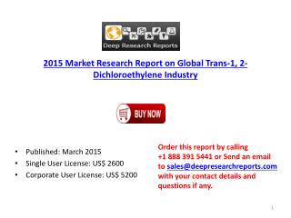 2015 Global Trans-1, 2-Dichloroethylene Industry Supply Dema