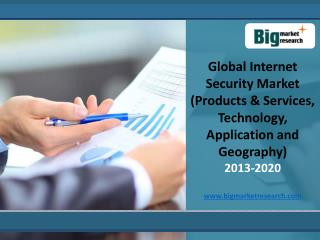 Global Internet Security Market Trends,Forecast 2013-2020
