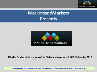 Middle East and Africa Industrial Valves Market