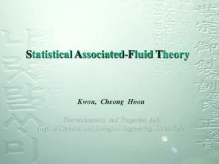 Statistical Associated-Fluid Theory