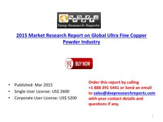 Global Ultra Fine Copper Powder Industry Key Distributors St