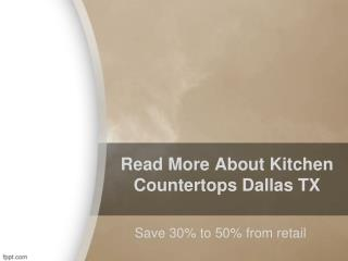 Kitchen Countertops Dallas TX