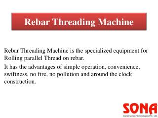 Rebar Thread Rolling Machine(Rebar Threading Machine)