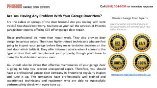 Are You Having Any Problem With Your Garage Door Now