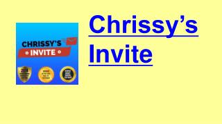 Chrissy's Invite