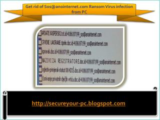 How To Remove Sos@anointernet.com Ransom Virus