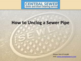 How to Unclog a Sewer Pipe