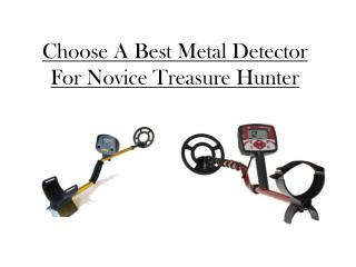 Choose A Best Metal Detector For Novice Treasure Hunter