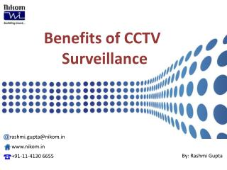 Benefits of CCTV Surveillance