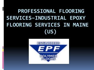 Epoxy Flooring Maine