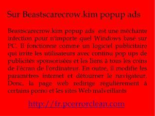 Enlever Beastscarecrow.kim popup ads