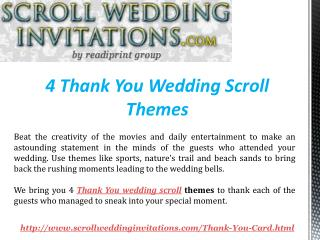 4 Thank You Wedding Scroll Themes