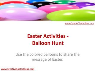 Easter Activities - Balloon Hunt
