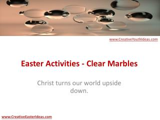 Easter Activities - Clear Marbles