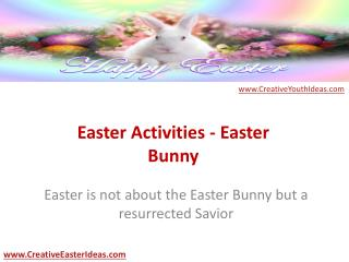 Easter Activities - Easter Bunny