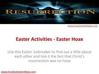 Easter Activities - Easter Hoax