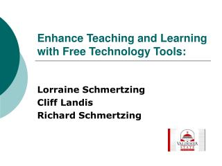 Enhance Teaching and Learning with Free Technology Tools: