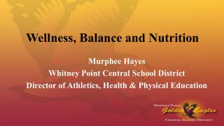 Wellness, Balance & Nutrition (2015)