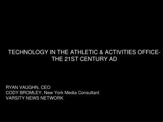 Technology and the 21st Century AD (2015)