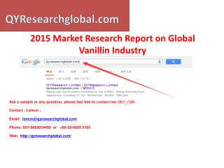 QYResearch-Vanillin Industry Market Research Report 2015 Glo