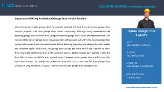 Garage Door Repair in El Paso