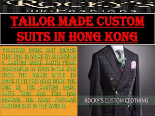 Tailor Made Custom Suits in Hong Kong