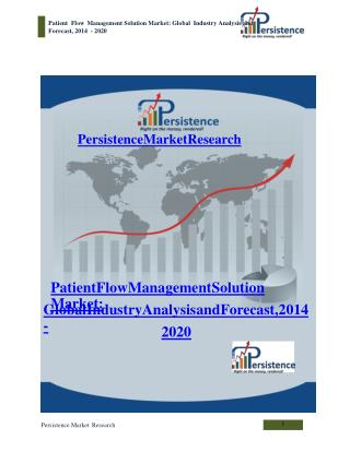 Patient Flow Management Solution Market: Global Industry Ana