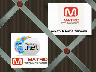 Presentation - Matrid Technologies