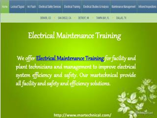 Electrical Maintenance Training