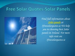 Best Solar Panels in Ireland