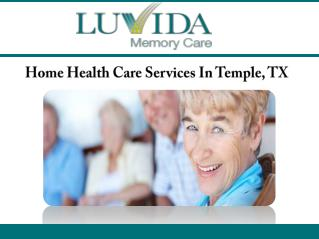 Home Health Care Services In Temple, TX
